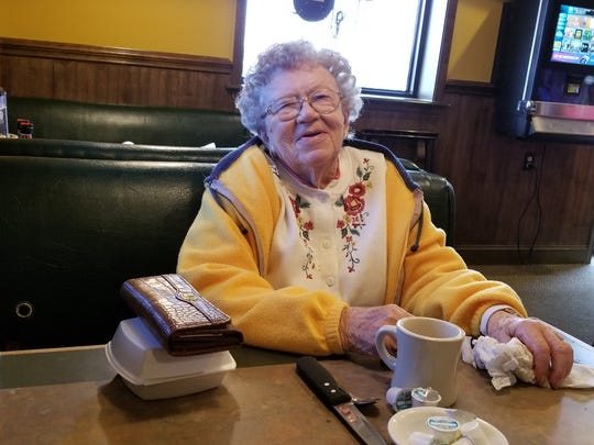 Mildred Reichert, 94, and her husband, August, will miss dining at Peaky's.