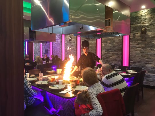 Dinner is theater at Kiku Japanese Steakhouse in Middletown.