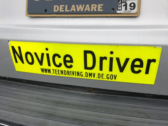 "If there was a ""Novice Driver"" sticker (issued by the"
