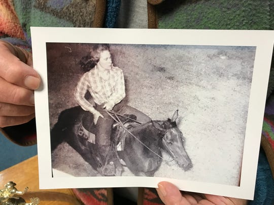 Ida Sauke was a rodeo champion in high school and at Montana State College.