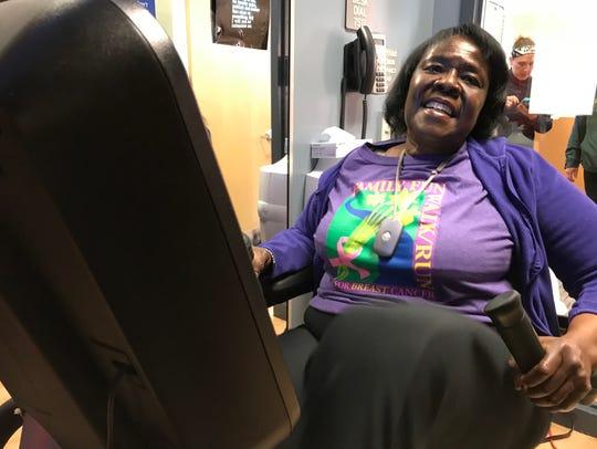 Glenda Webb, of Alexandria, is a breast cancer survivor