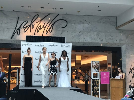 Models for the Lord & Taylor prom show at Eastview