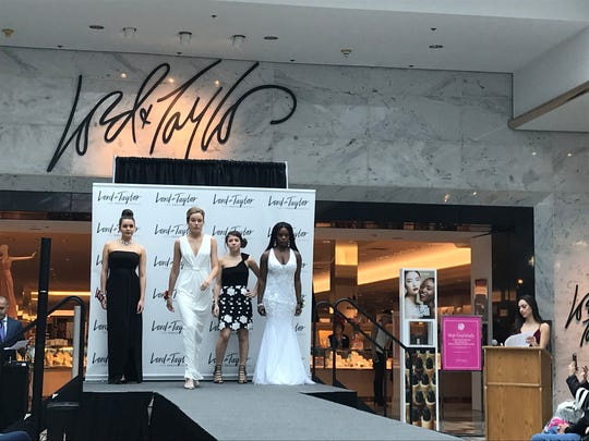 Models for the Lord & Taylor prom show at Eastview Mall, Saturday, March 3, 2018.