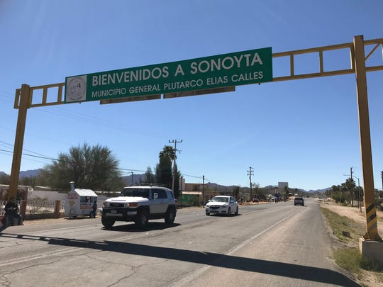 The main road to and from the Lukeville-Sonoyta border crossing is reduced to one lane on the Mexican side, causing heavy traffic bottlenecks during peak visitor seasons.