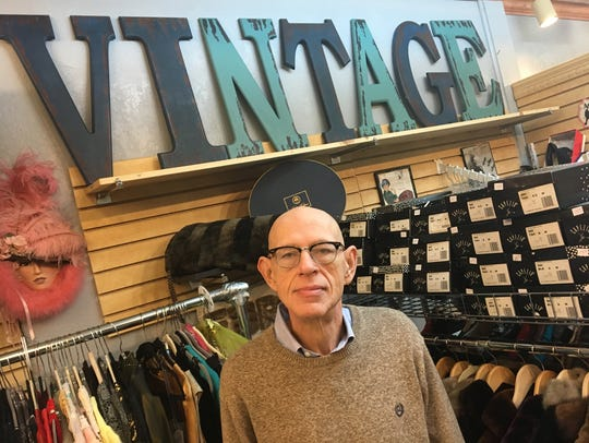 Mike Quayle, owner of Nanny June Vintage Clothing in