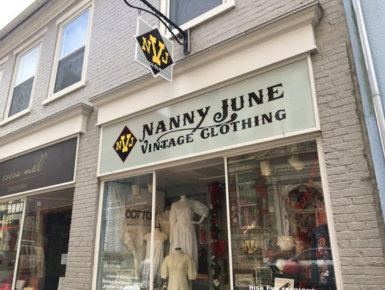 Nanny June Vintage Clothing in downtown Staunton.