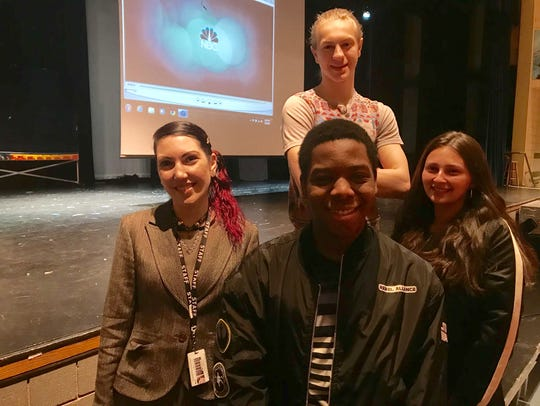 Peekskill High School Drama Club producer Laura Belfiore,