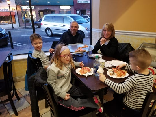 The Incantalupo family frequently dines at Francesca Brick Oven Pizza & Pasta in Glen Rock.