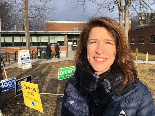 Carina Driscoll started her day at the Ward 7 polling