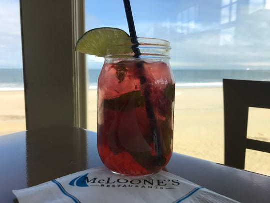Raspberry Mojito from McLoone's Pier House.