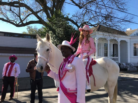 Molino resident Lakelynn Parker and Jojo the horse