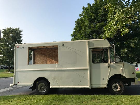 Joe LoPresti pulled his unfinished food truck from
