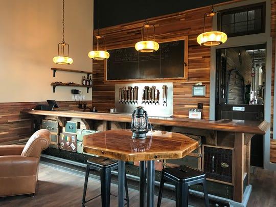 The bar inside Dansville's Battle Street Brewery.