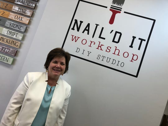 Co-owner Allison Fink of Nail'd It Workshop on Main