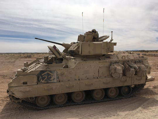 Bradley Fighting Vehicles also take part in gunnery