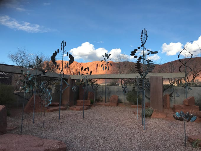 Art twists and turns in the Wind Garden at Coyote Gulch