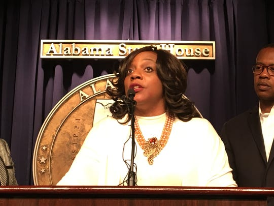 Rep. Merika Coleman, D-Pleasant Grove, speaks in the