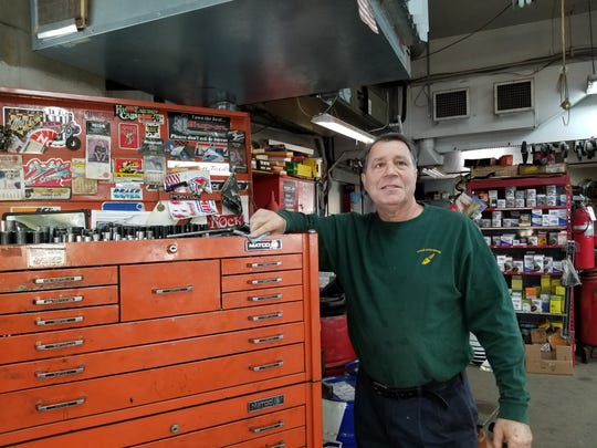 When David Tullo was a teenager, he would borrow tools from the repair garage at 130 S. Finley Ave. in Basking Ridge. He later bought the business, and has owned Tull's Auto Repair for over 40 years. Included in the sale were some of the same tools he'd borrowed when he was learning how to repair automobiles.