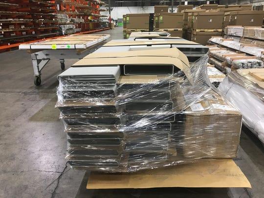 Finished aluminum inside SAF's plant in Redding is