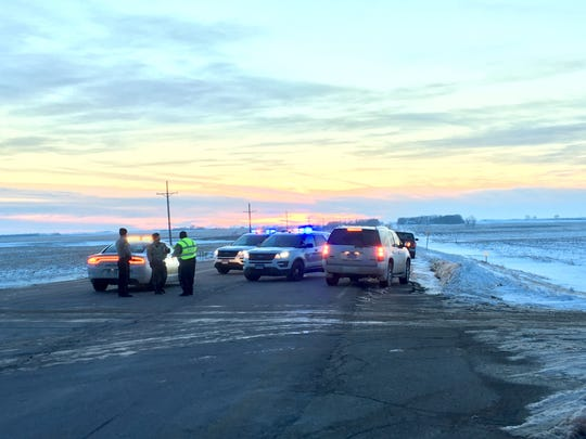 Law enforcement respond to a crash near Humboldt on