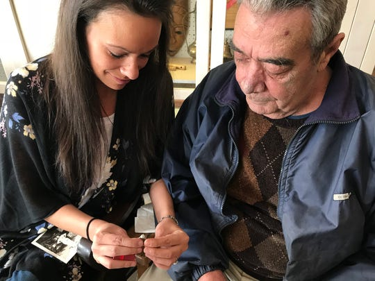 """We had nothing left of hers,"" said Michelle O'Toole, with her father, Mike O'Toole, on Friday, March 9 while they looked at the once lost, now found 1929 Sunfield High School class ring that belonged to her grandmother, Gretchen Mapes."
