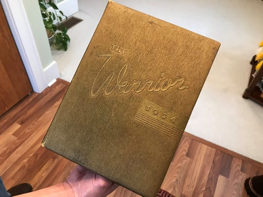 The Washington High School yearbook for 1954, the year