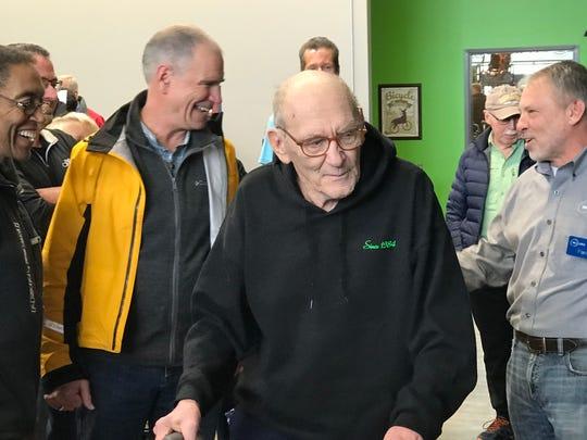 John Karras, co-founder of RAGBRAI celebrated his 88th