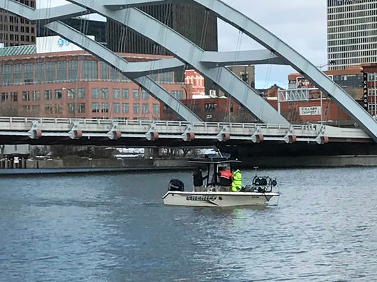 A watercraft from the Monroe County Sheriff on the