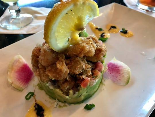 The lobster stack, a recent chef's special from Fish