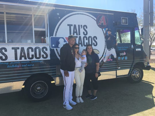 Diamondbacks pitcher Taijuan Walker and his family