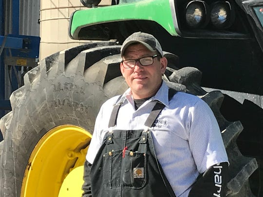 Reedsville farmer Andy Fisher said he is grateful for the services of Revolution Plastics.