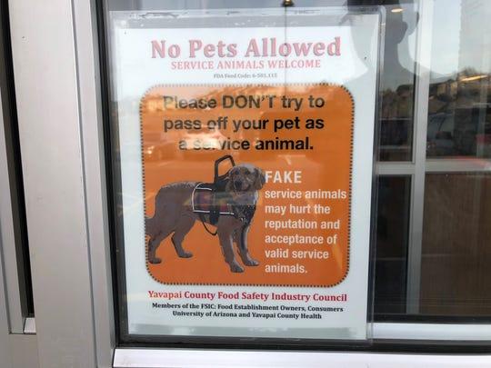 A local Prescott McDonald's implemented a sign asking