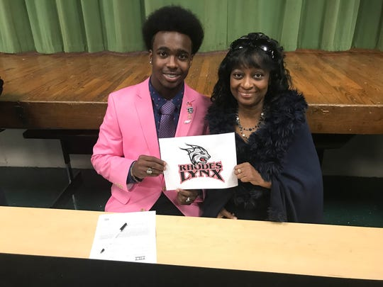 Bolivar Central defensive back Daniel Lake signs with Rhodes College on March 13, 2018.