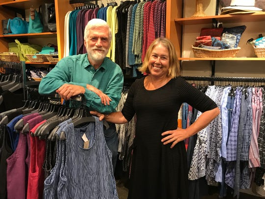 Mike Roach and Kim Osgood, owners of Paloma Clothing