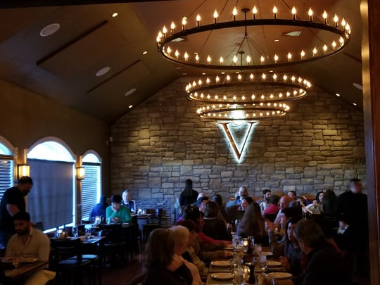 The main dining room at Vesta Wood Fired Pizza in East Rutherford.