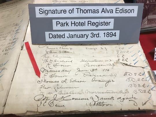 Part of the Thomas Edison exhibit at the Butler Museum.