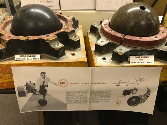 Part of the American Hard Rubber Company exhibit at