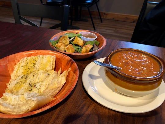Friday night dinner entrees at Grinds 122 Café in Brockport