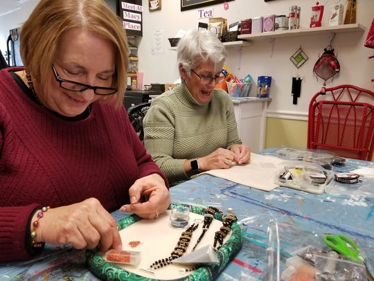 Local artists Mary Ann Smoot and Jane Antlfinger have