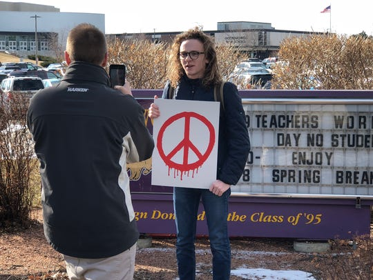 One of the Oconomowoc High School's walkout organizers,