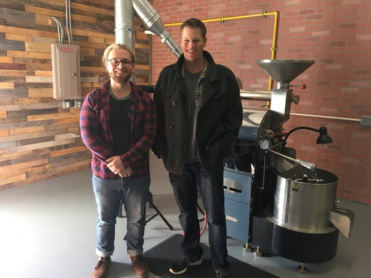 Clayton Feinstein, left, and Caleb MacPherson own Narrative Coffee Roasters in Cape Coral.
