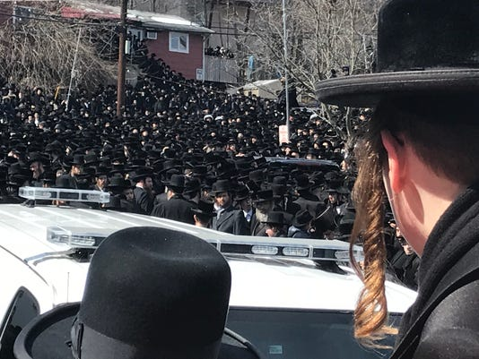 Funeral of Rebbe Hager
