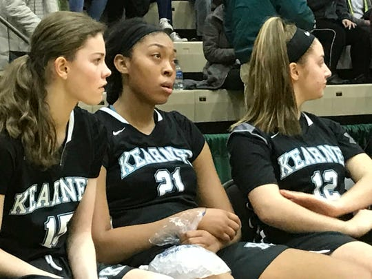 Saniaa Wilson, center, and Bishop Kearney have fallen short in their quest for a state title each of the last two seasons. Coach Kevin Sheppard has prepared a rugged schedule in hopes of better preparing his team for a deeper postseason run.