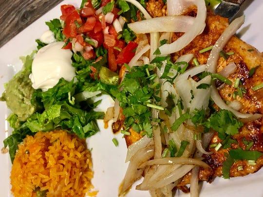 The Pollo Margarita at La Catrina has a thin-sliced