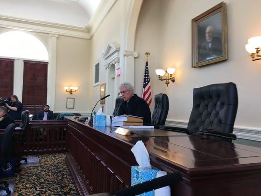 Vermont Superior Court Judge Thomas Carlson presides