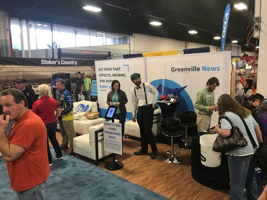 The Greenville News booth at the Bassmaster exp.o