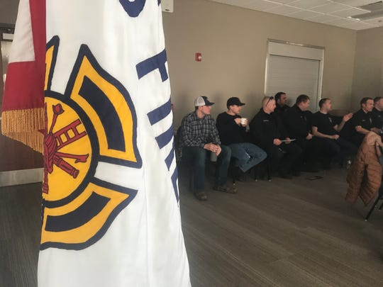 About thirty people attended a vote at a Fishers Fire