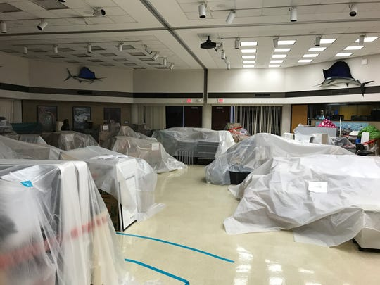 Damaged roofs at the University of Texas Marine Science Institute in Port Aransas resulted in what was described as a waterfall of rain pouring from ceilings and destroying scientific instruments.