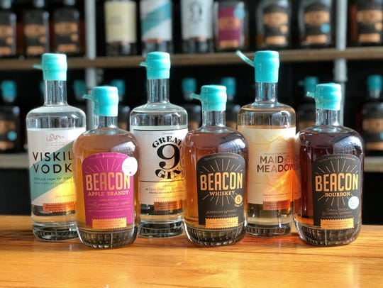 Top sellers from Dennings Point Distillery include