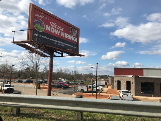 Spare Time Greenville is expected to open this Spring